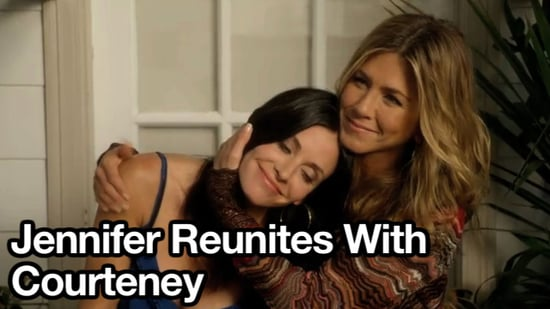 Video of Jennifer Aniston on Cougar Town With Courteney Cox