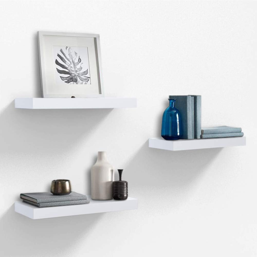 AHDecor White Floating Wall Mounted Shelves