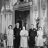 Posing with the Royal Family Before His Marriage in 1947
