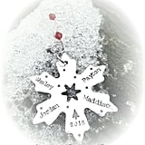 Stamped Snowflake Family Ornament