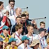 David Beckham and his sons Romeo Beckham, Cruz Beckham, and Brooklyn Beckham watched the Olympics.