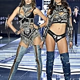"""Dream to walk to @Victoriassecret runway with one of my best friends @alessandraambrosio. Love you Ale,"" Lily Aldridge wrote on Instagram."