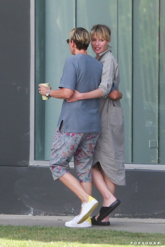 The pair walked arm in arm after grabbing lunch in LA in August 2017.