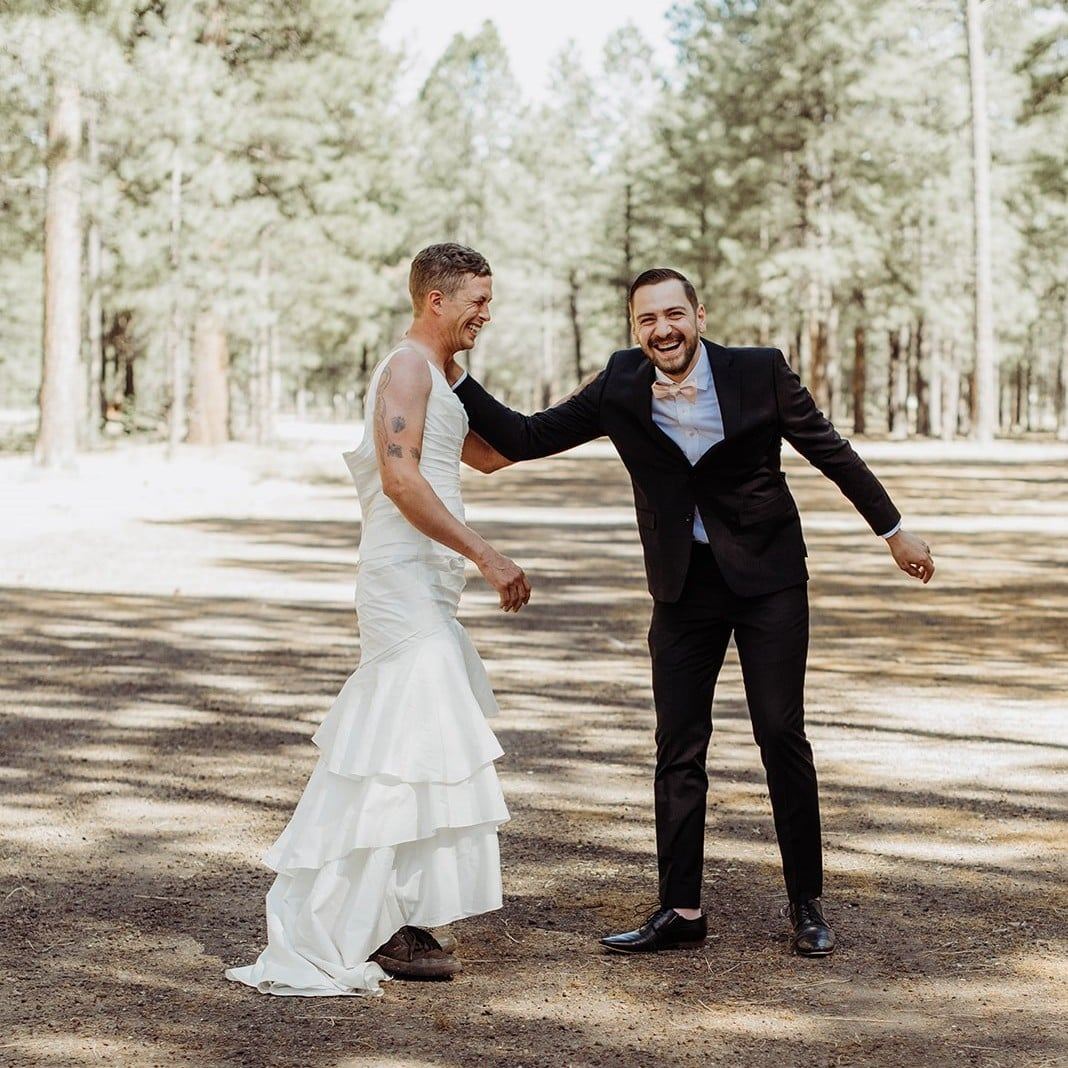 Bride Sends Brother to Her First Look in a Wedding Dress | POPSUGAR Moms