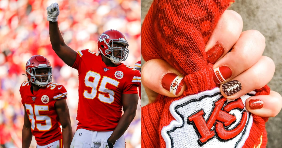 Whether you're rooting for the Kansas City Chiefs or the San Francisco 49ers, we've got Super Bowl nail art ideas for