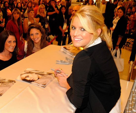 Slide Picture of Jessica Simpson at Macy's in North Carolina