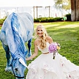 It's your fantasy wedding; why not walk down the aisle with a unicorn?!