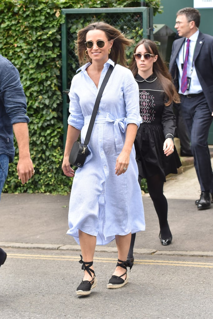 Ground a Floaty Shirtdress With Black Espadrilles and a Crossbody Bag