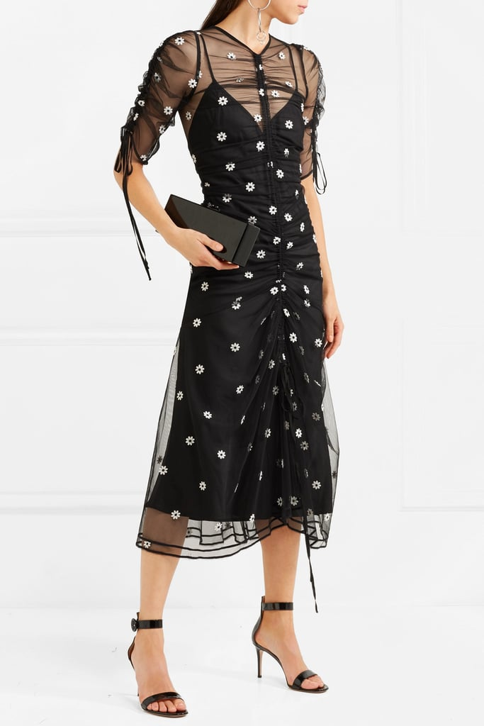 Alice McCall Garden Party Embroidered Tulle Midi Dress | Daisy ...