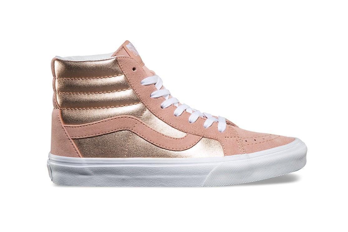 Vans Rose Gold High Top Sneakers