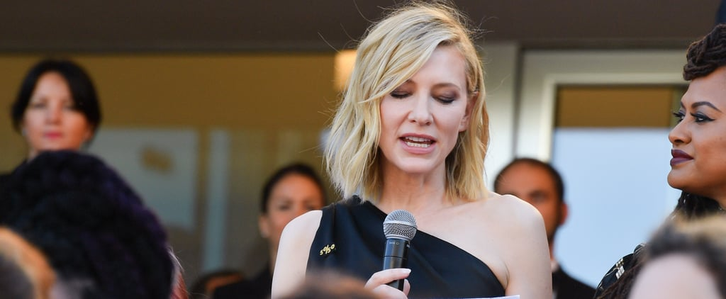 Cate Blanchett Leads Cannes Women's March 2018