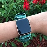 Green Velvet Scrunchie Watch Band