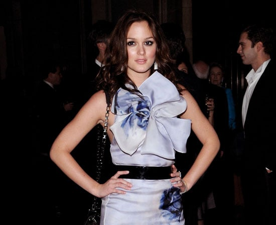 Slide Photo of Leighton Meester Attending the 2009 Library Lion Benefit in NYC