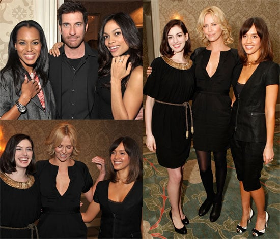 Photos of Anne Hathaway, Charlize Theron, Jessica Alba, Rosario Dawson at V-Day Luncheon, Quotes About Rihanna
