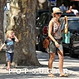 Naomi Watts spent the day with her family in the South of France.