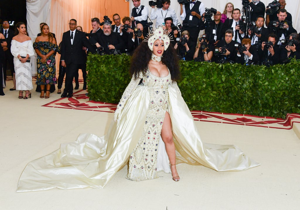 For her first Met Gala, Cardi wore a gorgeous Moschino gown.