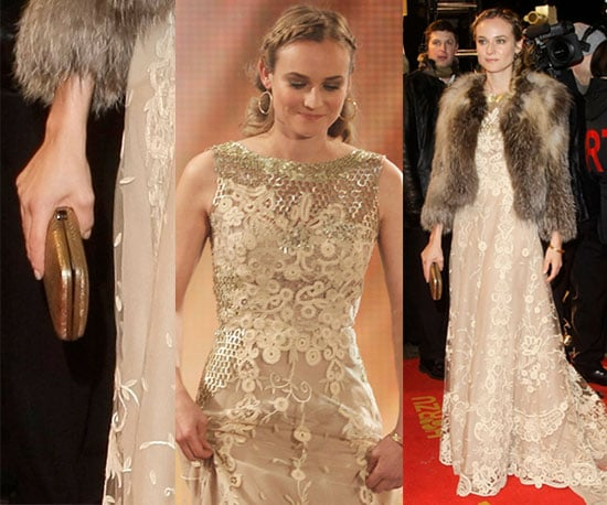 Diane Kruger Wears Lace Gown and a Fur Coat at the Goldene Kamera Awards in Berlin 2010-02-02 10:00:04