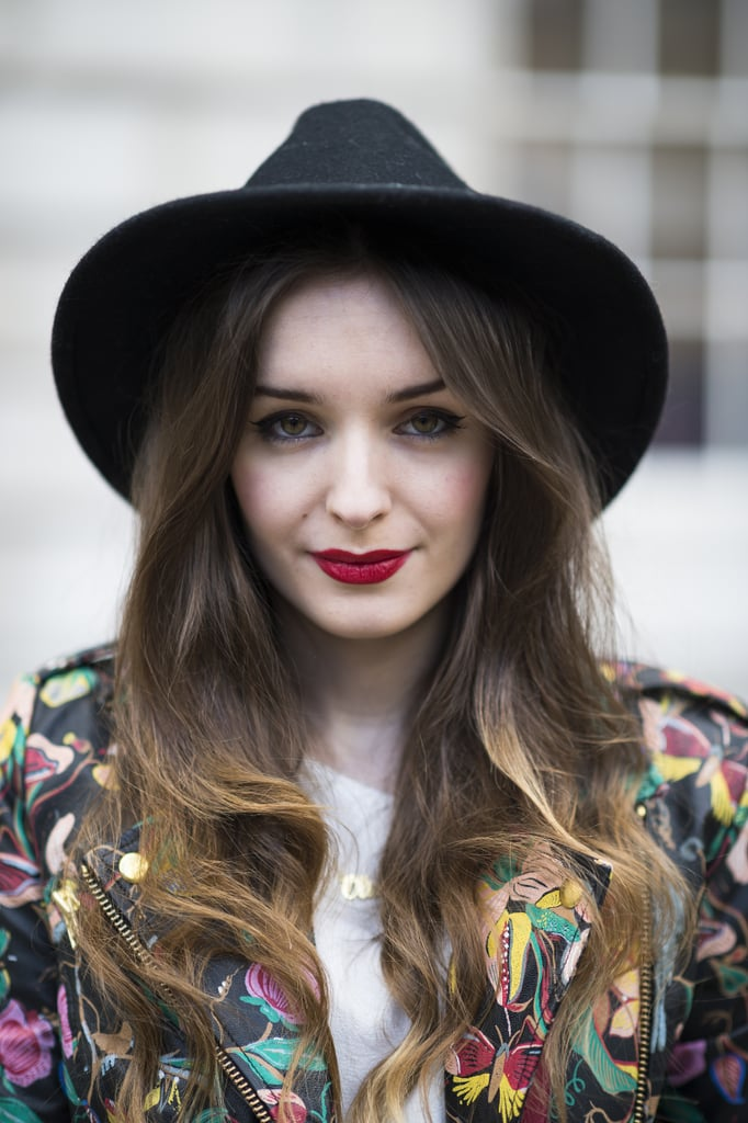 Liner, lipstick, and layers: Olivia Purvis nailed the cool-girl look.  Source: Le 21ème | Adam Katz Sinding