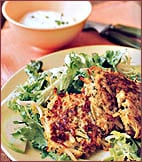 Fast & Easy Dinner: Salad with Potato Apple Pancakes
