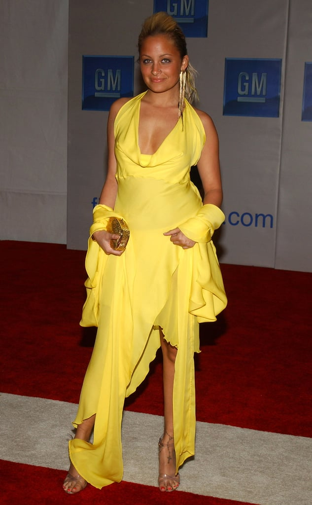 Nicole was anything but mellow in this head-to-toe yellow look at a GM event in Hollywood back in February 2004.
