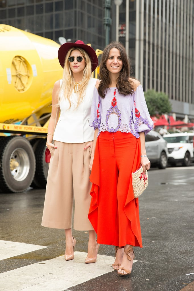 Structured Culottes and a Feminine Blouse