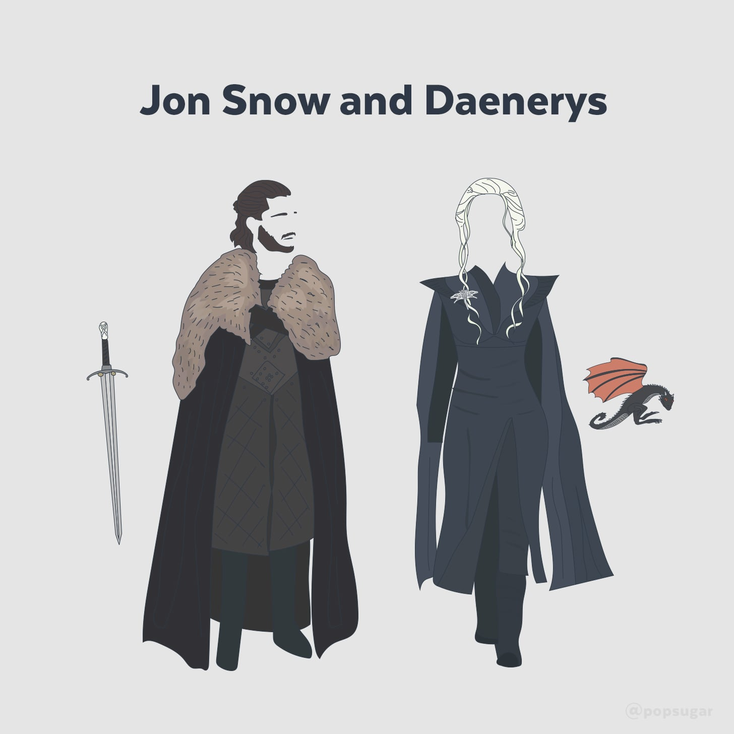 Jon snow and daenerys targaryen costume popsugar smart living as we impatiently await the final season of game of thrones what better way to fill the westeros void than by channeling your favorite characters for solutioingenieria Choice Image