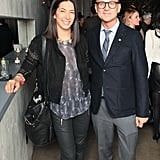 Rebecca Minkoff and Steven Kolb at CFDA's cocktail party.