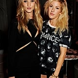 Rosie Huntington-Whiteley and Ellie Goulding partied together at London Fashion Week's kickoff party hosted by Elle magazine.