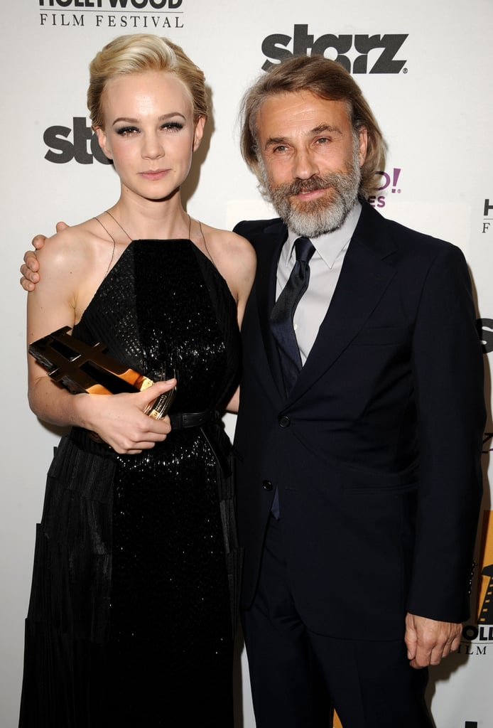 Christoph Waltz presented Carey Mulligan the Hollywood Supporting Actress award.
