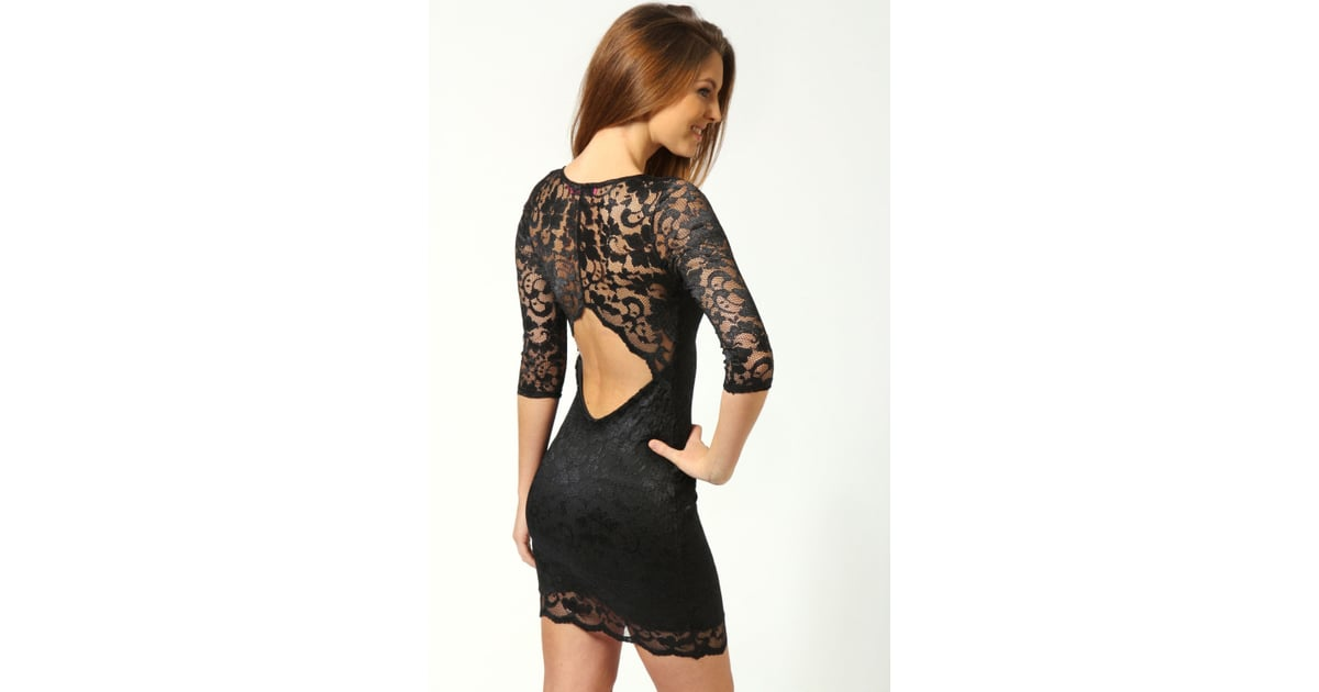 4f576b84f799d Boohoo Nina open-back lace dress (£22) | The Best Backless and Cutout Back  Dresses | Fashion Pictures | POPSUGAR Fashion UK Photo 10