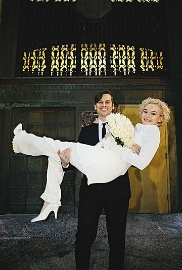 Julia Garner's Danielle Frankel Wedding Pantsuit