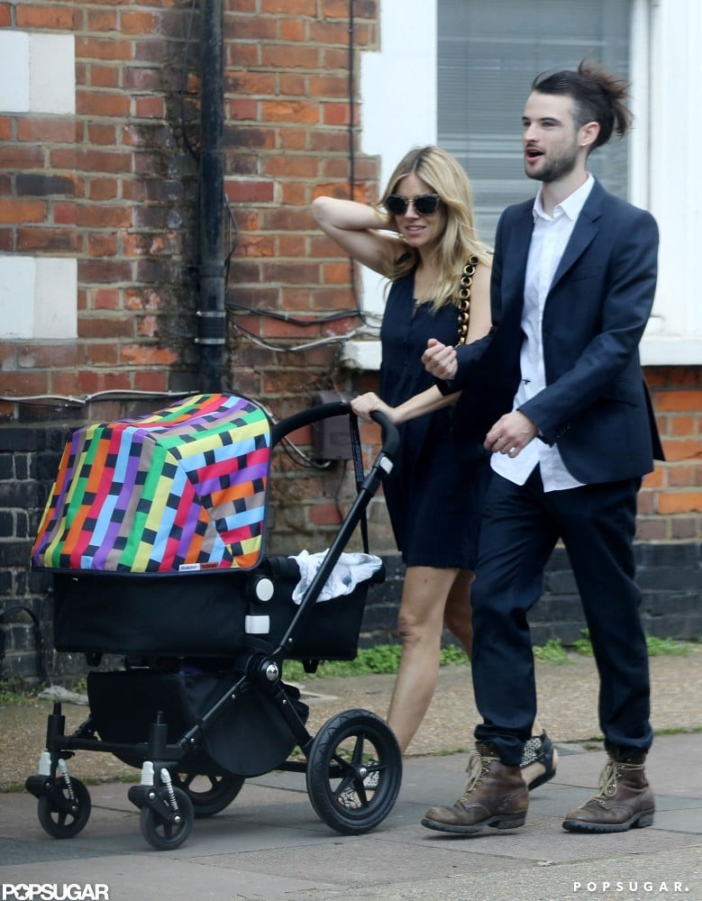 Sienna Miller and Tom Sturridge With Baby