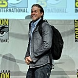 In July 2013, he sported a backpack during the Comic-Con panel for Sons of Anarchy.