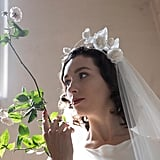 Floral Halo Crown Bridal Headpiece With Silk Roses