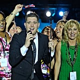 Michael Bublé performing in Napa.