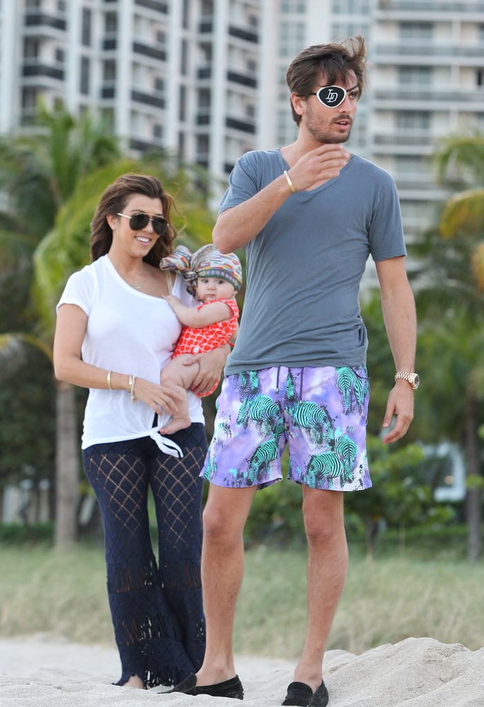 Kourtney Kardashian and Scott Disick headed to the beach with Penelope.