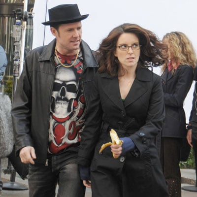 Tina Fey and Dean Winters Filming 30 Rock in NYC