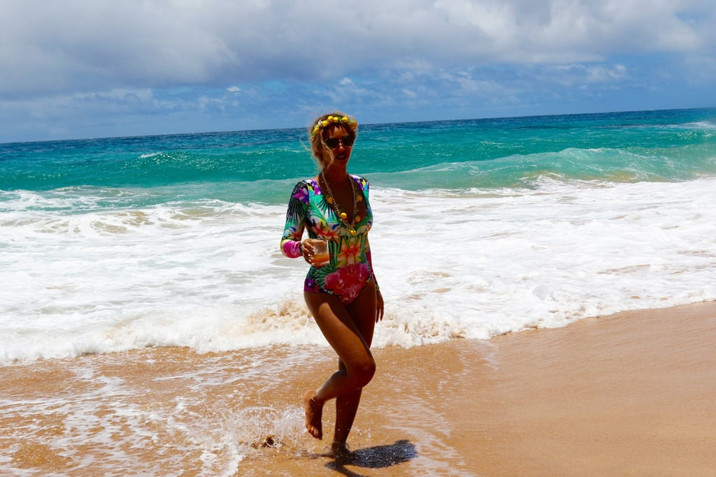 Beyonce One Piece Swimsuit in Hawaii June 2016