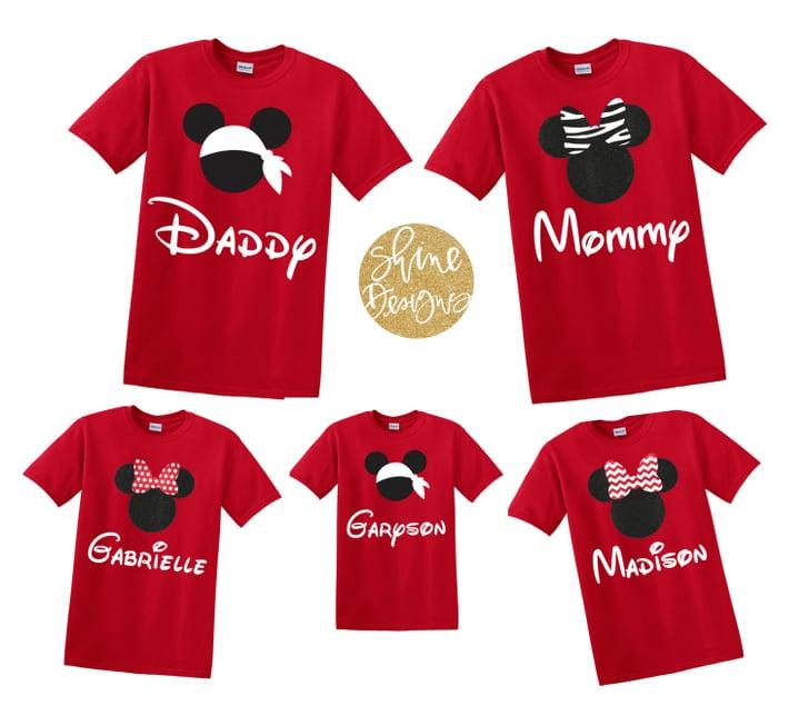 Red Disney Family Shirts Matching Family Disney Shirts