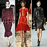 More fit-and-flare looks from Fall '12.  From left to right: Roksanda Ilincic, Marchesa, Kanye West