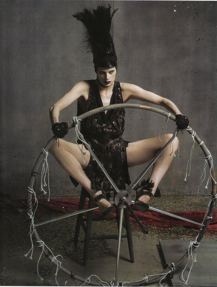 Kristen McMenamy Photographed by Steven Meisel in Vogue Italia July 2009