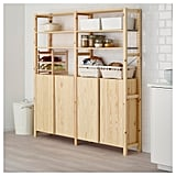 Ivar 2-Section Shelving Unit With Cabinets