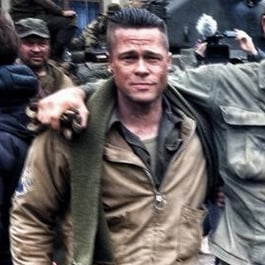 Brad Pitt Dressed as a Sergeant on the Set of Fury | Picture