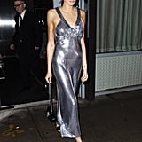 Kaia Gerber Wore a Silver Mesh Dress to Her Jimmy Choo Party