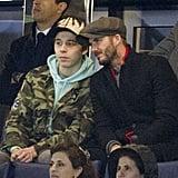 David and Brooklyn Beckham Get REALLY Into This Soccer Championship, and It's Adorable