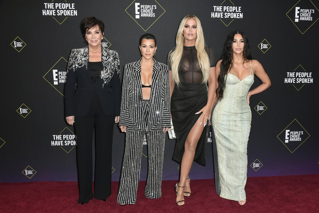 The Kardashians were in full force at the People's Choice Awards on Sunday night. Kim, Khloé, and Kourtney Kardashian turned the award show into a fun girls' night out with their mom, Kris Jenner. Though Kendall and Kylie Jenner sat the show out this time around, all eyes were on the Kardashian women as they hit the red carpet and worked the cameras from all angles. And boy do we mean all angles. Seriously, could Kim's snakeskin dress be any sexier? Find more pictures from the Kardashian clan's big night ahead.       Related:                                                                                                           The People's Choice Awards Red Carpet Was Like a Casting Call For the Hottest Dresses of the Year