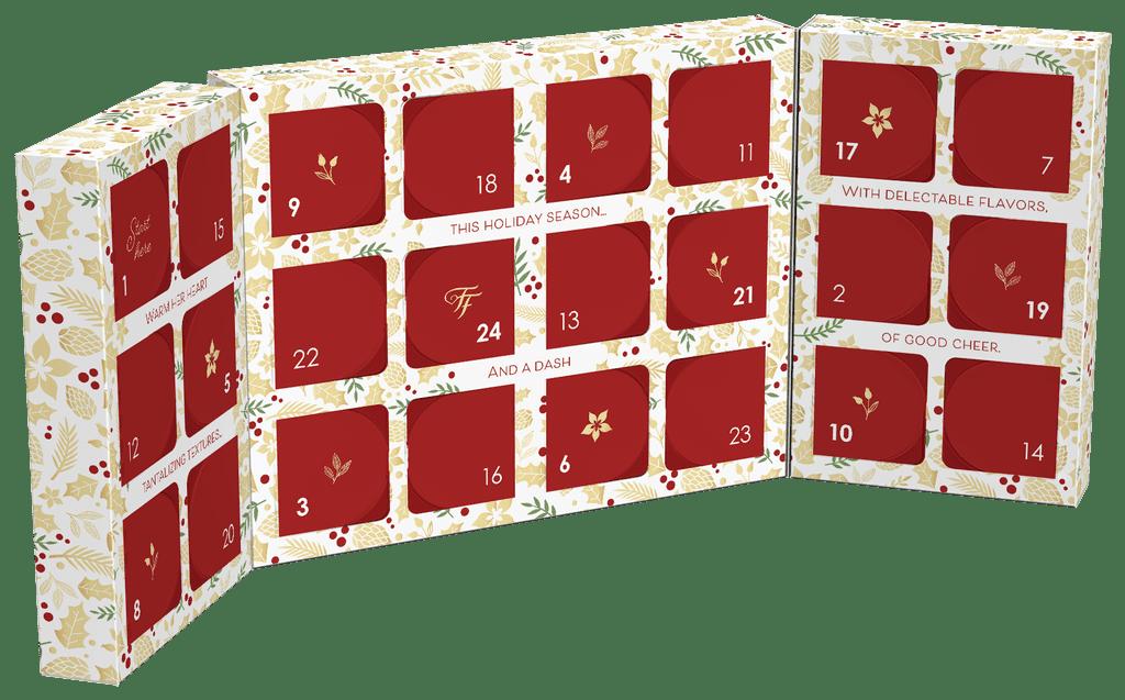 The Inside of the Fancy Feast Feastivites Advent Calendar