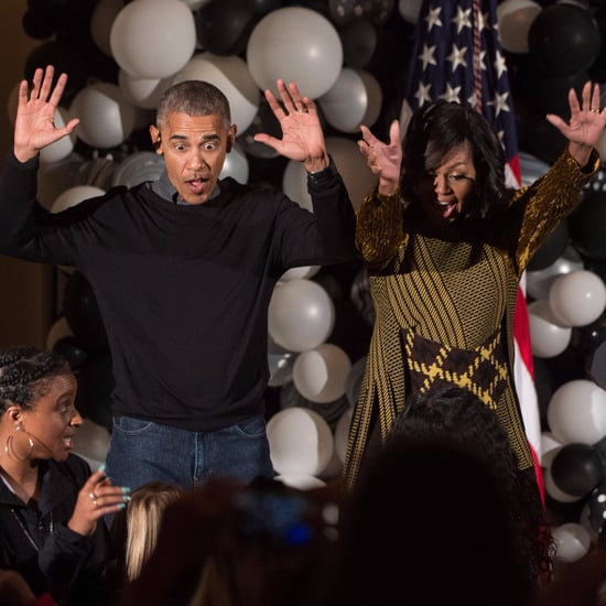 "Barack and Michelle Obama Dancing to ""Thriller"" 2016"