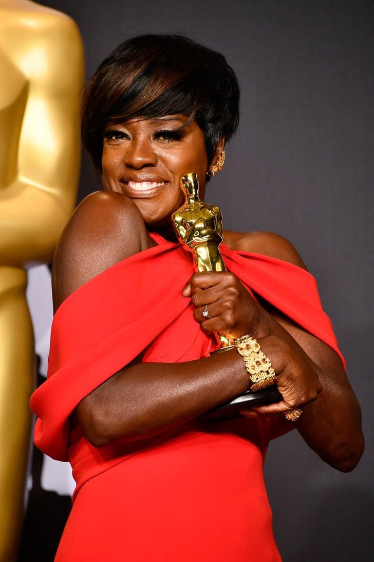 Marina Auto Body >> When Viola Davis's Bracelet Matched Her Oscar | Oscars Fashion 2017 | POPSUGAR Fashion Photo 2