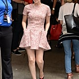 Another Dior number, but this time in tweed. With any other 'do, this dress might look frumpy, but thanks to Kate's pixie, we just see Mia Farrow in Rosemary's Baby.
